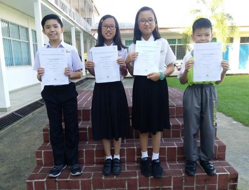 小学部学生于海外各项竞赛中表现不俗