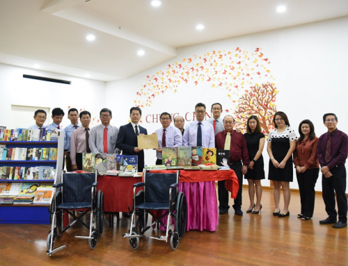 【Taipei Economic and Cultural Office in Brunei donates books and wheelchairs to CCMS】